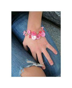 Jewelry Charm Bracelet Buttons  Pretty Pink by LovesParisStudio, $30.00