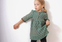 Girls boho DRESS tunic pattern - children sewing pattern - sizes from 3 to 8 years Sewing Patterns For Kids, Clothing Patterns, Dress Patterns, Pdf Patterns, Boho Pattern, Tunic Pattern, Pattern Sewing, Little Girl Dresses, Sewing Clothes