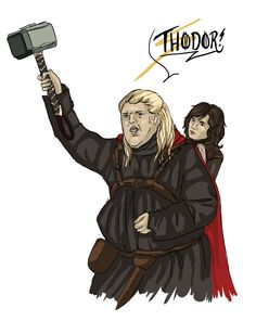 Hodor's been watching The Avengers again...  Go take a look at our Tumblr! :D http://afeastforgoats.tumblr.com/ http://www.afeastforgoats.se/in-english