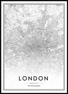 Poster mit London-Karte.