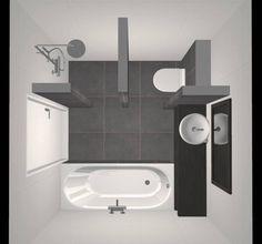 Kleines Badezimmer mit Dusche, Badewanne, Waschbecken und Toilette – Design – Beniers-Badezimmer – Foto 2 / Dekopub Small bathroom with shower, bath, washbasin and toilet – Design – Beniers bathroom – Photo 2 / Dekopub – – Small Bathroom Layout, Simple Bathroom Designs, Bathroom Design Layout, Bathroom Photos, Modern Bathroom, Bathroom Ideas, Shower Designs, Bathroom Organization, Bathroom Interior