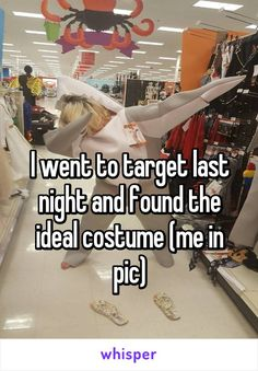 I went to target last night and found the ideal costume (me in pic)