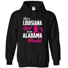 LOUISIANA ALABAMA GIRL T-Shirts, Hoodies. BUY IT NOW ==► https://www.sunfrog.com/States/LOUISIANA-2DALABAMA-girl-Pink05-Black-Hoodie.html?id=41382