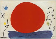 The Red Sun Print by Joan Miró at Art.com