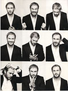 Chris Hemsworth being a goof.