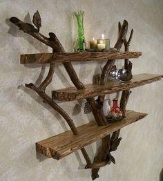 Stick and Driftwood Shelf