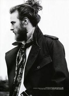 beard + man bun. i won't lie, the man bun can be nice...