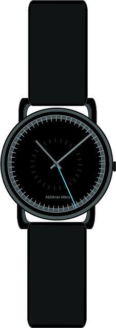 Race Track Wristwatch design by Abhinav Misra. Modern , contemporary , Minimalist