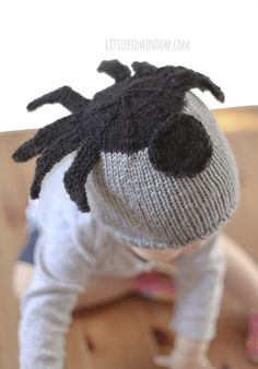 Silly Spider Hat Free Knitting Pattern for newborns, babies and toddlers!!   littleredwindow.com