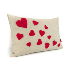Growing hearts pillow cover