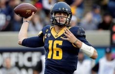 California quarterback Jared Goff throws against BYU during the first half of an NCAA college football game on Nov. 29, 2014, in Berkeley, Calif.
