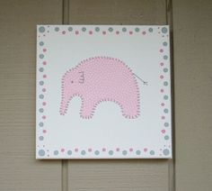 Baby Elephant #8 Fabric Wall Art by CottonwoodCove on Etsy