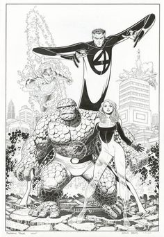 Ungoliantschilde — some more black and white artwork by Arthur Adams.