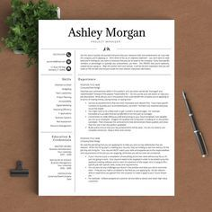 Modern Resume Template For Word  Cover Letter  Tips