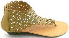 Women T Strap Rhinestone Party Wear Gladiator Roman Flat Sandals Shoes (6.5, Khaki) DEV http://www.amazon.com/dp/B00TMA7YMQ/ref=cm_sw_r_pi_dp_k2nqvb0T6YJYX