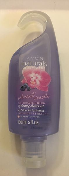 AVON orchid & blueberry shower gel