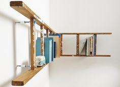 Wandregal im Vintage-Look: Ein hippes Leiter-Regal