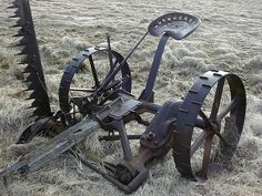 McCormick-Deering No. 7 Mower..There was still one of these on display at our farm when I was quite young.