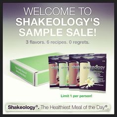 TASTE TEST! $20. #justsaying #shakeology #sample pack. #try before you #buy available at www.teambeachbody.com/offthecuff