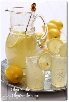 Lemoniada - przepis Olgi Smile Coca Cola, Lemon, Cooking, Recipes, Fit, Baking Center, Coke, Kochen, Recipies