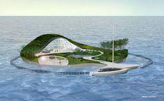 Proyecto de una Isla, con forma de Casa Flotante... (sin Realizar)  http://daviddelca.tumblr.com/post/65635736393/proyecto-de-una-isla-con-forma-de-casa-flotante