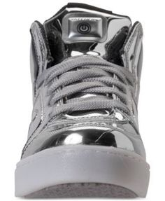 207c5f97353f Skechers Boys  S Lights  Energy Lights Light-Up Casual Sneakers from Finish  Line - Silver 4.5