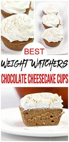 Weight Watchers Cupcakes, Weight Watchers Cheesecake, Weight Watchers Breakfast, Weight Watchers Desserts, Cheesecake Deserts, Best Chocolate Cheesecake, Cheesecake Cups, Low Calorie Desserts, Ww Desserts