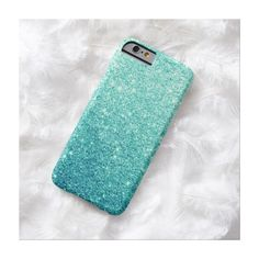 Elegant Teal Glitter Luxury iPhone 6 Case ($45) found on Polyvore featuring accessories, tech accessories, phone cases, phones, cases and electronics