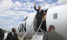 Secretary General Ban Ki-moon waves as he arrives at the Kamuzu International Airport in the Malawi capital Lilongwe May on h. Ban Ki Moon, Human Rights Organizations, Human Rights Watch, United Nations, International Airport, Secretary, Gay, Product Launch, Challenges