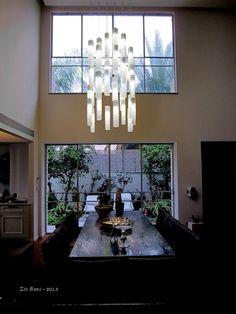 Modern Farmhouse Dining Room Chandelier Lighting Large Glass | Etsy #ShimalePeleg #diningroomlighting #largependantlight #artglasspendant #decorativelighting #hanginglamp #glasspenantlight