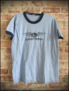 29509b175 RESERVED for Watch Vintage 80 s Eastern Airlines Ringer Tee Shirt - Size XL
