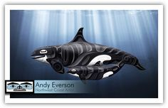 Andy Everson is a Northwest Coast Artist from Comox BC specializing in contemporary and traditional limited edition Native prints. Native Art, Native American Art, Haida Art, Tlingit, Inuit Art, Indigenous Art, Aboriginal Art, Art Furniture, Orcas