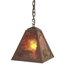 Steel Partners Bear 1 Light Outdoor Pendant Finish: Rust, Shade Type: Bungalow Green