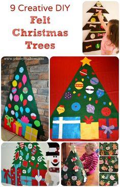 Creative DIY Felt Christmas Trees for Kids