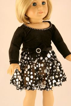 American+Girl+Doll+Clothes++Holiday+Skirt+with+by+Forever18Inches