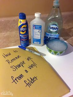 Just A Little Creativity: How to Remove Permanent Sharpie Ink from Vinyl Folders- Back to School Tips