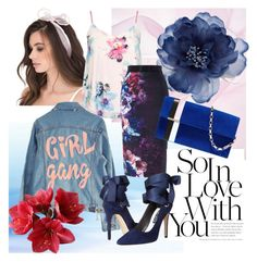 """""""Floral Navy"""" by jeyjulia4 on Polyvore featuring Accessorize, Dorothy Perkins, Coast, High Heels Suicide, Alice + Olivia and Tomasini"""