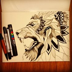 Lion scketch #lion#tattoo