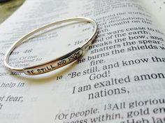 Psalm 46 - Bangle Bracelet