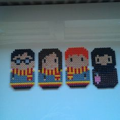 Harry, Hermione, Ron and Hagrid - Harry Potter hama beads by itslittlelaura