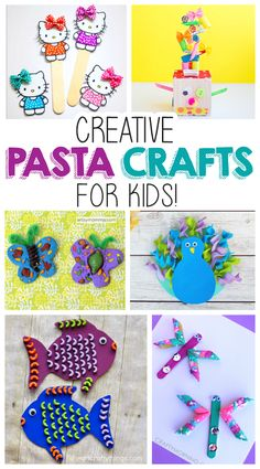 Creative Pasta Crafts For Kids | Your kids will love making these creative past crafts...and they are so much fun!