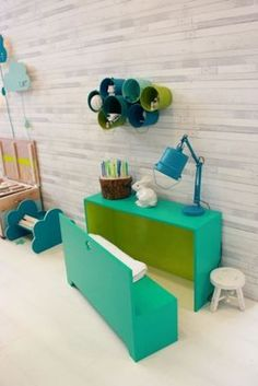 kids' table with a bench inside