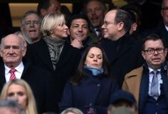 The Prince Albert and Princess Charlene of Monaco were at Twickenham to watch the rugby match between England and France in the Six Nations tournament