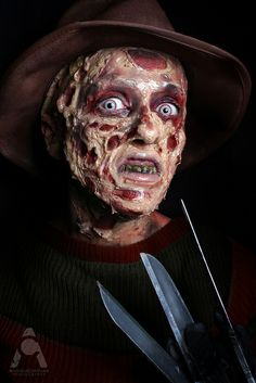 Halloween Makeup Freddy Krueger - Nightmare On Elm Street by Amanda Chapman https://www.facebook.com/amandachapmanphotography