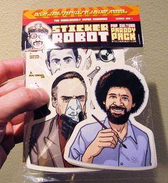 sticker robot, pop culture parody pack by stickerobot, via Flickr