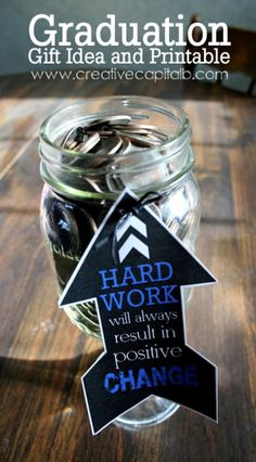 Graduation Mason Jar Gift {free printable} cans other grad diy gifts