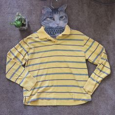 Old Navy Vintage Fit Long Sleeved Stripe T-Shirt GUC, vintage vibe, tag = small, however does fit a L like slightly a crop top, look really cute with denim skirt. Old Navy Tops Tees - Long Sleeve