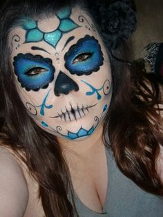 i was GOING to be a pirate for halloween... think i just changed my mind!!!!! My first sugar skull