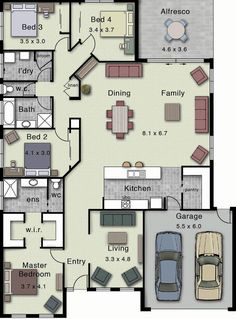 Hotondo Homes - Dakota 267 - Home Design (Turn bedroom 3/4 into one larger bedroom with an en suite bathroom for mom)