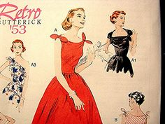 Rockabilly Dress Pattern.  I can swe a straight line, could I make my own dresses?!